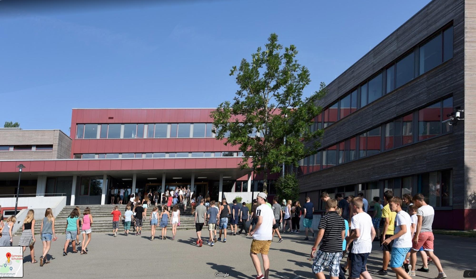 Gymnasium Aulendorf – Schuleingang – ® Google Maps